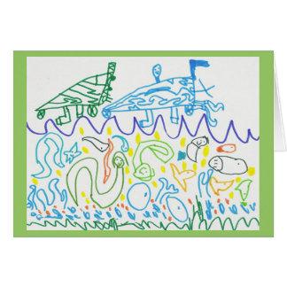 El mar tarjeta de felicitación