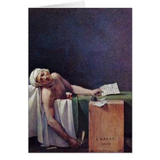 El Marat asesinado de Jacques-Louis David Tarjeta