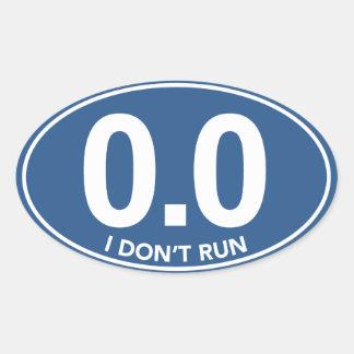 El maratón 0,0 no funciono con al pegatina oval