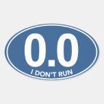 El maratón 0,0 no funciono con al pegatina oval (a