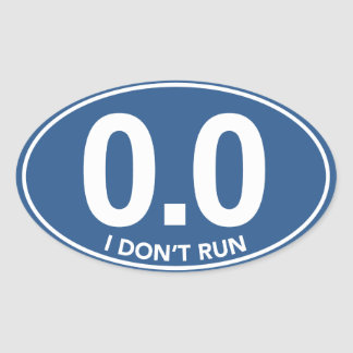 El maratón 0 0 no funciono con al pegatina oval a