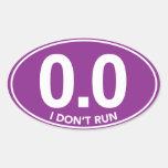 El maratón 0,0 no funciono con al pegatina oval (p