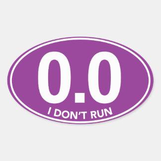 El maratón 0 0 no funciono con al pegatina oval p