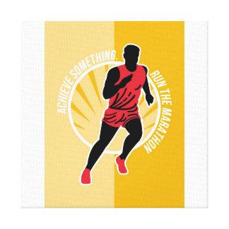 El maratón alcanza algo poster retro lona envuelta para galerías