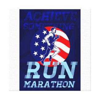 El maratón americano alcanza algo poster lienzo envuelto para galerías