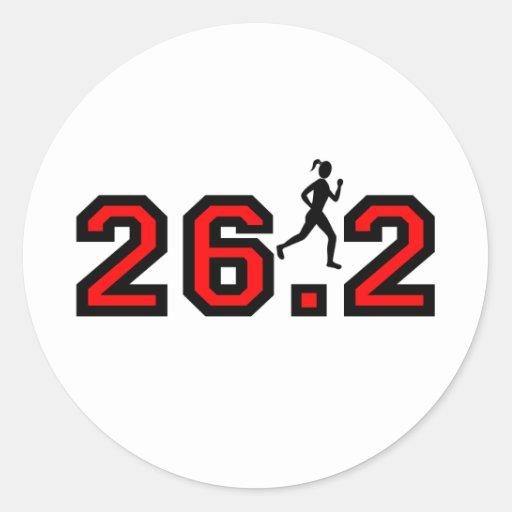 el maratón de las mujeres 26,2 pegatina