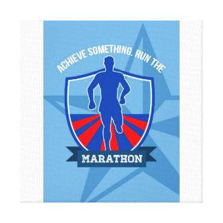 El maratón del funcionamiento alcanza algo poster lona envuelta para galerias