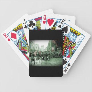 El marchar afroamericano de las mujeres cartas de juego