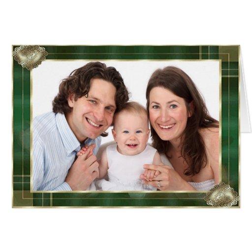 El marco antiguo verde añade su foto aquí felicitación