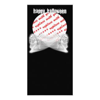El marco de la foto de Halloween del paseo de los Tarjetas Fotograficas