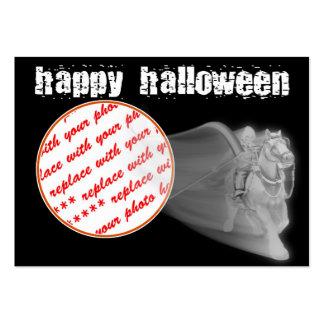 El marco de la foto de Halloween del paseo del Tarjetas De Visita Grandes