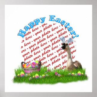 El marco de la foto del ganso de Pascua Impresiones