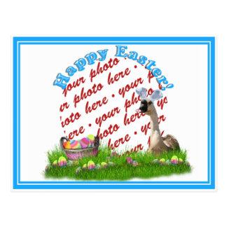 El marco de la foto del ganso de Pascua Postal