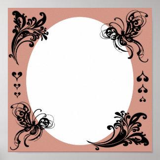 El marco de la tarjeta del día de San Valentín per Posters