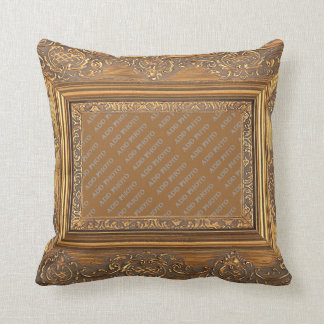 El marco de madera de lujo añade la almohada de la