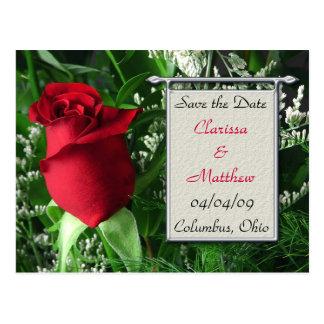 El marco del rosa rojo y de la plata ahorra la fec postales