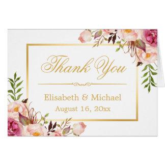 El marco floral elegante elegante del oro le tarjeta pequeña