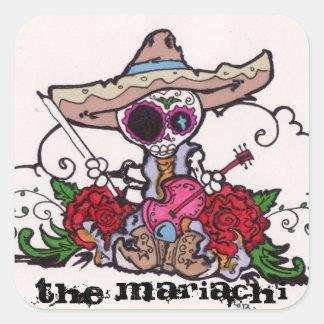 El Mariachi Pegatina Cuadrada