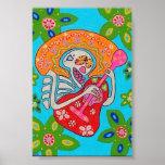 El Mariachi Serenade el poster esquelético Póster