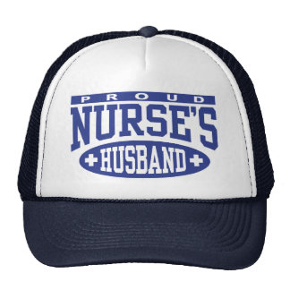 El marido de la enfermera orgullosa gorro de camionero