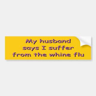 El marido dice a la pegatina para el parachoques d pegatina para auto
