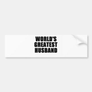 El marido más grande del mundo etiqueta de parachoque