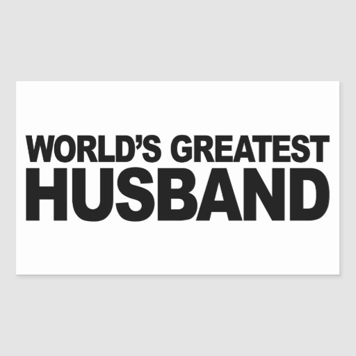 El marido más grande del mundo pegatina rectangular