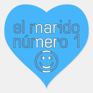 El Marido Número 1 - Number 1 Husband Guatemalan Heart Sticker