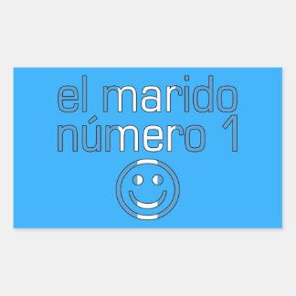 El Marido Número 1 - Number 1 Husband Guatemalan Rectangular Sticker