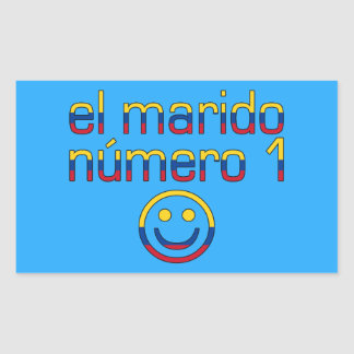 El Marido Número 1 - Number 1 Husband in Colombian Rectangular Sticker