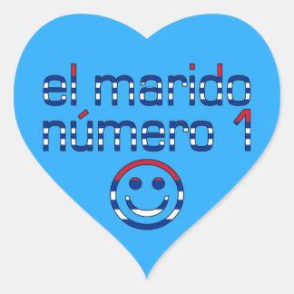 El Marido Número 1 - Number 1 Husband in Cuban Heart Sticker