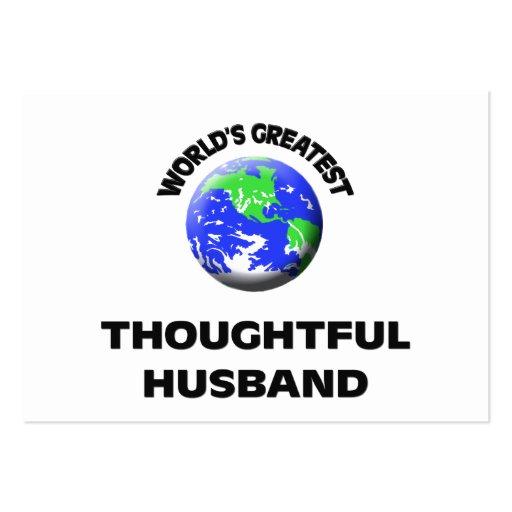El marido pensativo más grande del mundo plantilla de tarjeta personal
