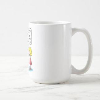 El marido ve que otro mujer-salen las sombras para taza de café