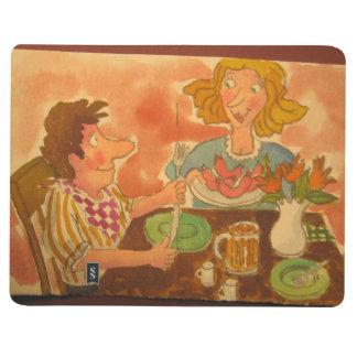 el marido y la esposa se aman, perritos calientes  cuaderno grapado