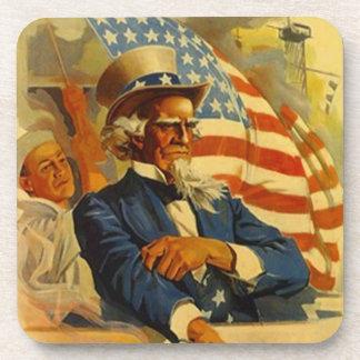 El marinero de la marina de guerra del tío Sam del Posavasos De Bebidas