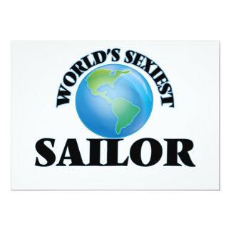 """El marinero más atractivo del mundo invitación 5"""" x 7"""""""