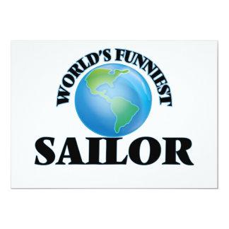 """El marinero más divertido del mundo invitación 5"""" x 7"""""""