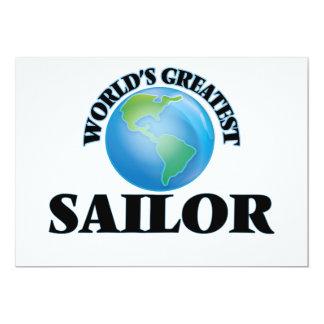 """El marinero más grande del mundo invitación 5"""" x 7"""""""
