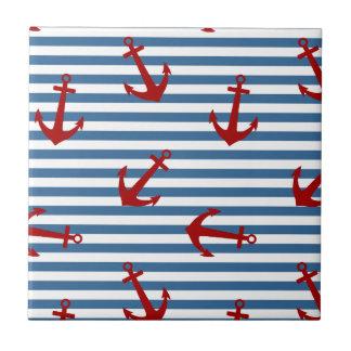 El marinero raya arte del modelo azulejo cuadrado pequeño