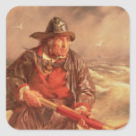 El marino pegatina cuadrada