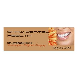 el márketing del bot, SHAW dental cura… Tarjetas De Visita Mini