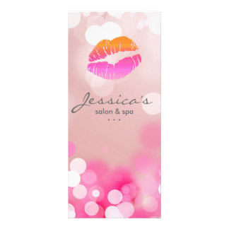 El márketing del salón carda los labios y las luce lonas publicitarias