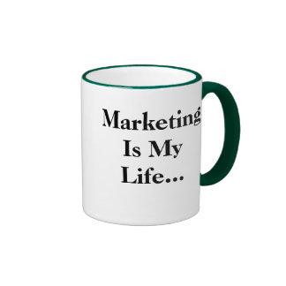 El márketing es mi vida… Lema profundo divertido Tazas De Café