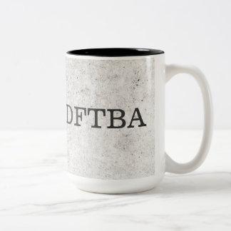 El mármol gris DFTBA no olvida ser impresionante Taza De Café De Dos Colores