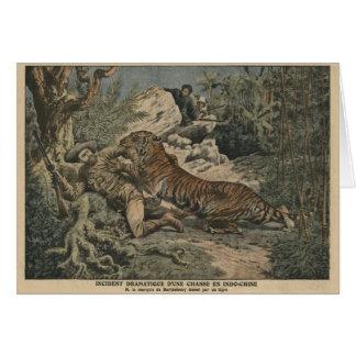 El marqués de Barthelemy hirió por un tigre Tarjeta De Felicitación