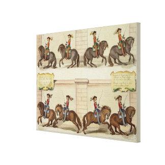El marqués de Newcastle a caballo Demonstratin Impresión De Lienzo