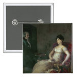 El Marquesa de Villafranca Painting su marido Pins