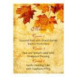 el marrón del otoño de la caída deja el menú del b comunicado