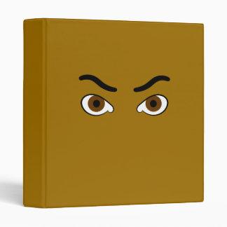 """el marrón enojado observa la frente gruesa carpeta 1"""""""