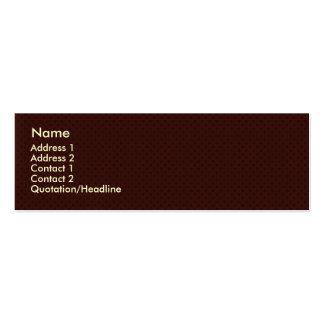 El marrón oscuro festivo circunda en un backgr mar plantilla de tarjeta de visita